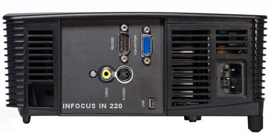 InFocus IN222 XGA 3500 Lumens Side View