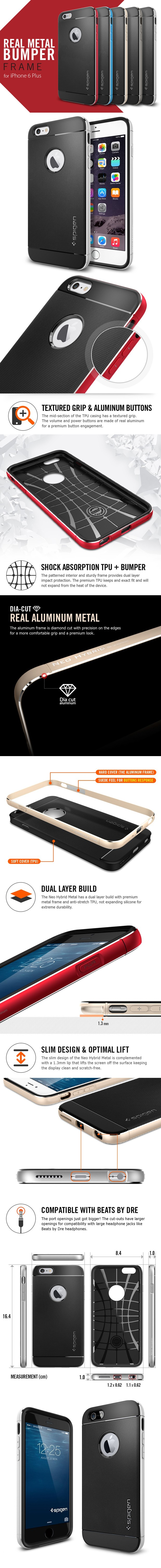 Spigen Neo Hybrid Metal Feature