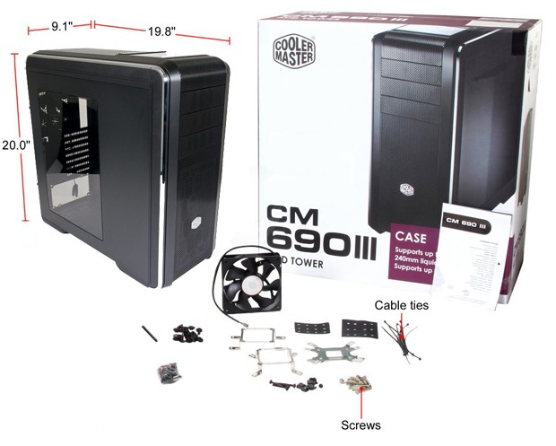 Cooler Master CM690 III Full Package