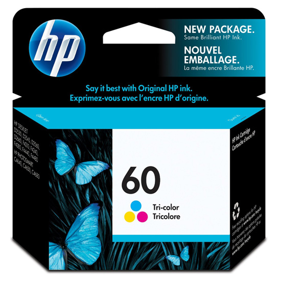 HP 60 TriColor Genuine / Original Cartridge