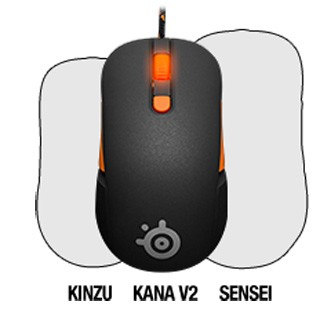 SteelSeries Kana V2 Size Compared Size