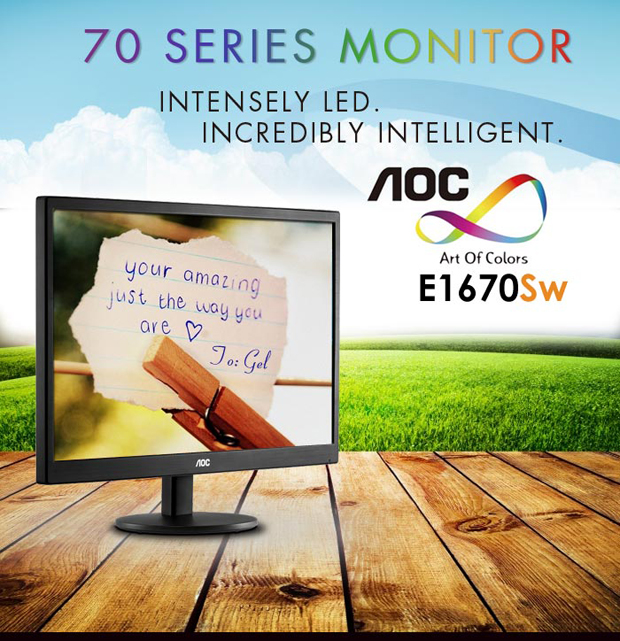 AOC E1670SW 70 Series Monitor